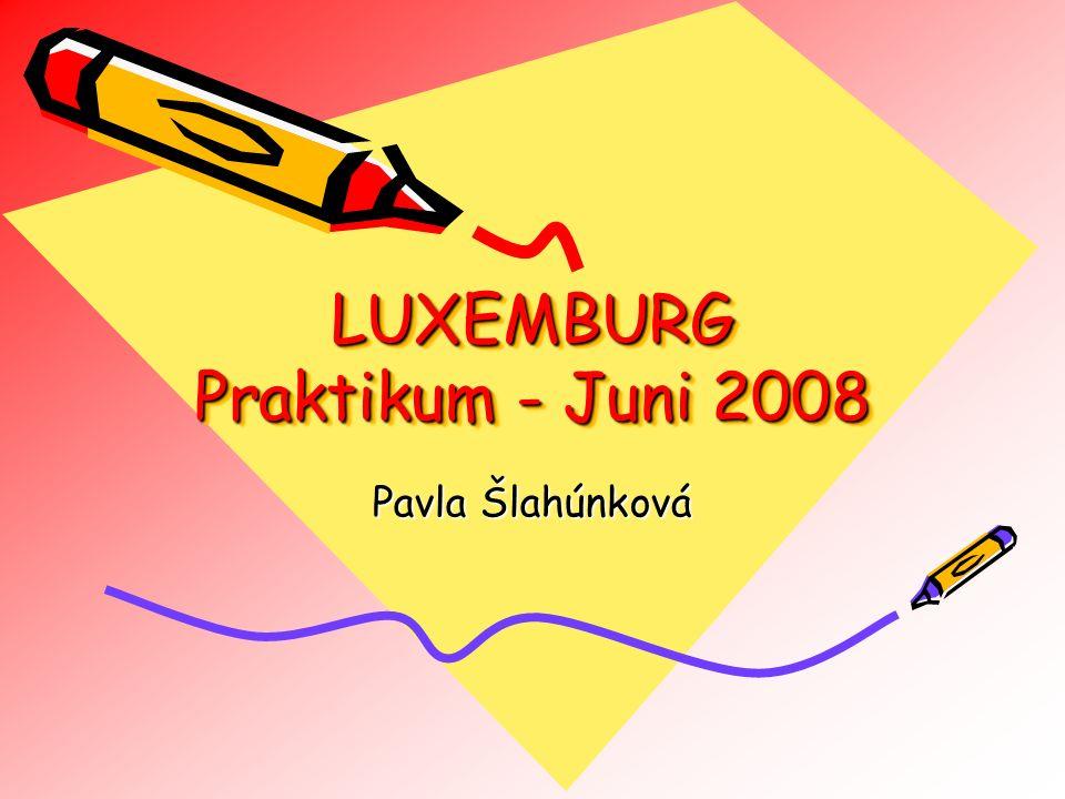 LUXEMBURG Praktikum - Juni 2008 Pavla Šlahúnková
