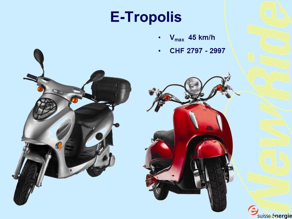 E-Tropolis V max 45 km/h CHF 2797 - 2997