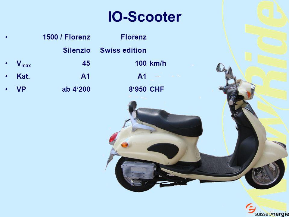 IO-Scooter 1500 / Florenz Florenz Silenzio Swiss edition V max 45100km/h Kat. A1A1 VP ab 4200 8950CHF