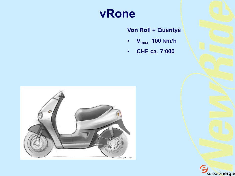 vRone Von Roll + Quantya V max 100 km/h CHF ca. 7000