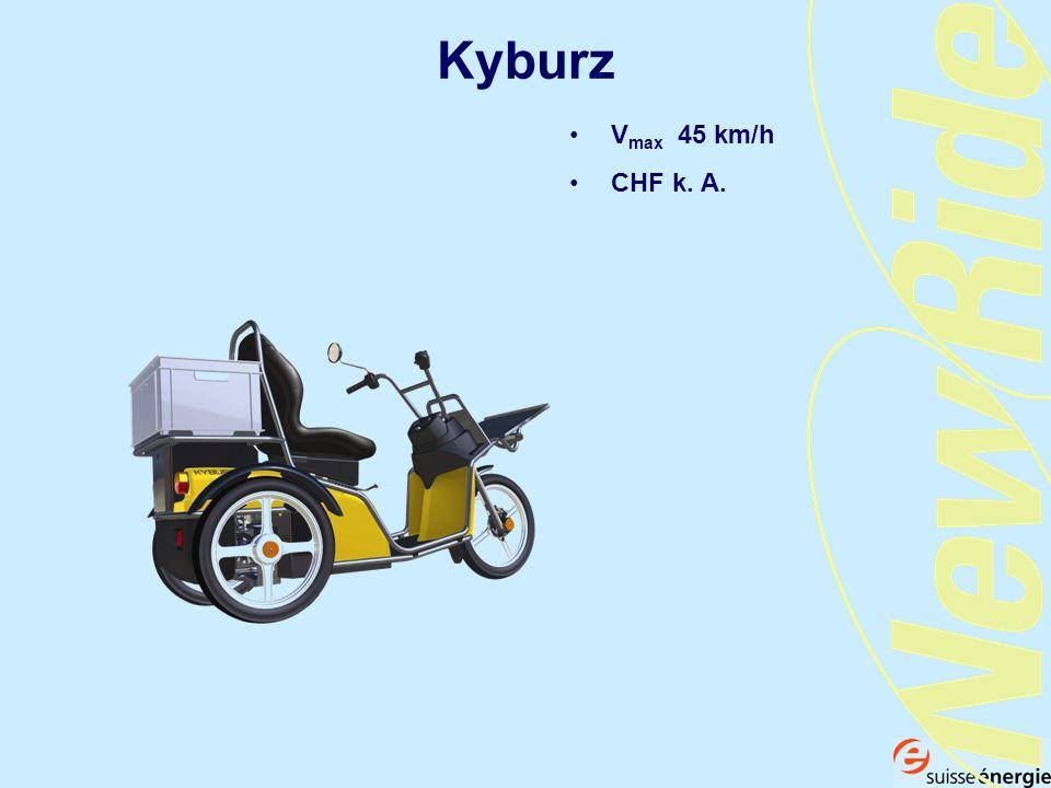 Kyburz V max 45 km/h CHF k. A.