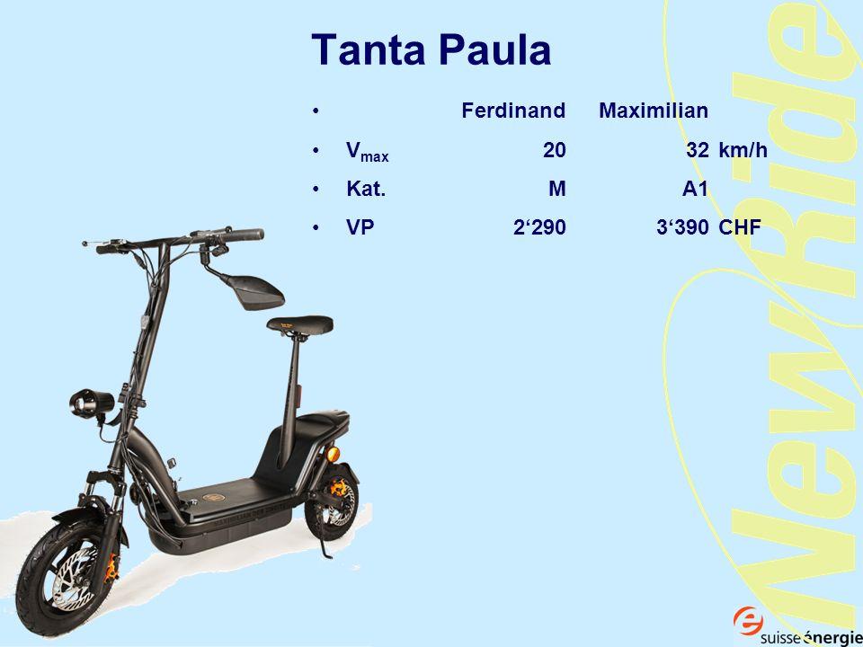 Tanta Paula Ferdinand Maximilian V max 20 32 km/h Kat. MA1 VP 2290 3390CHF