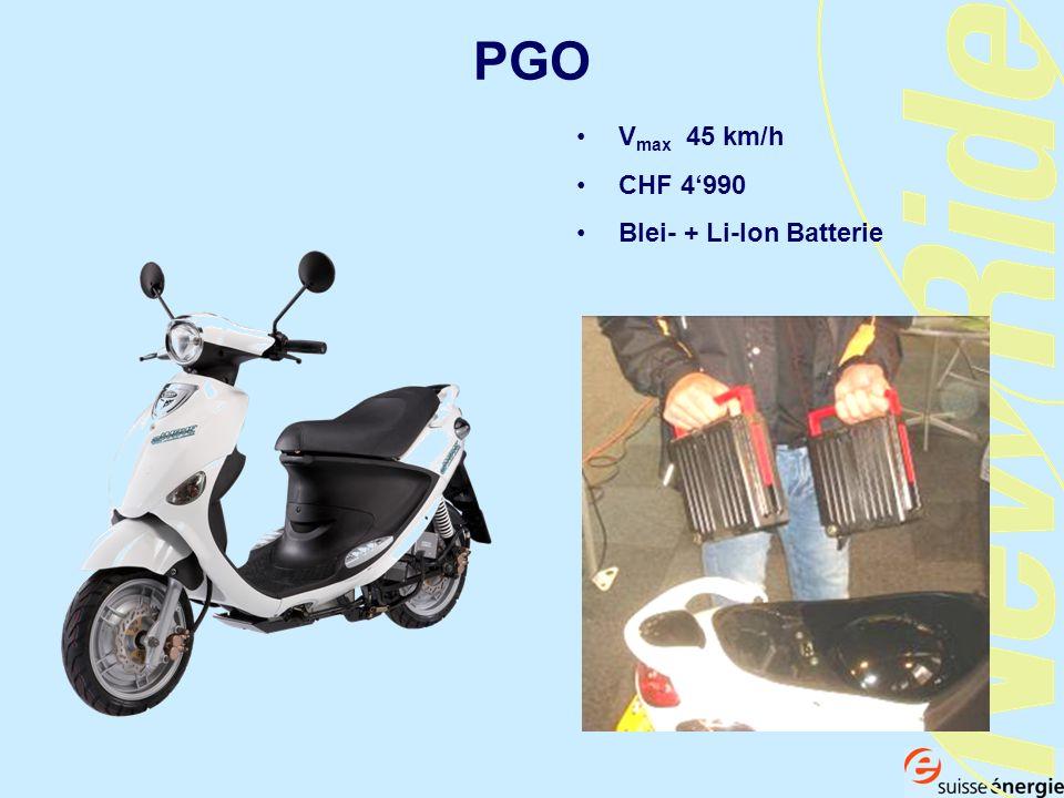 PGO V max 45 km/h CHF 4990 Blei- + Li-Ion Batterie