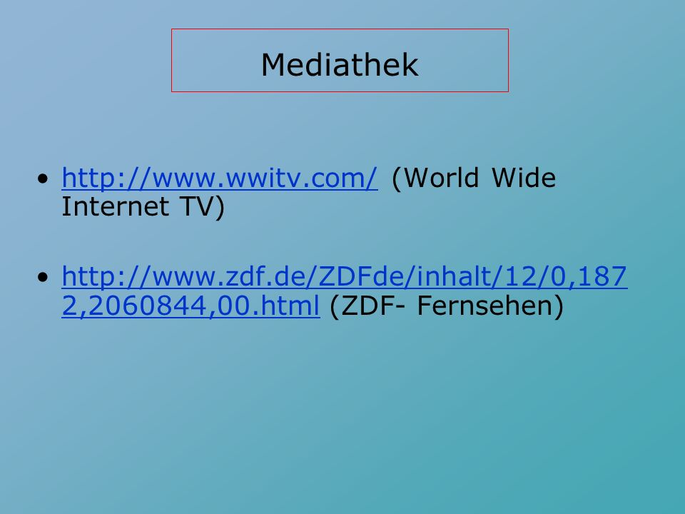 Webseiten von Verlagen: http://www.classzone.com/german.cfm (Houghton Mifflin - Auf Deutsch!)http://www.classzone.com/german.cfm http://college.hmco.com/languages/germa n/dollenmayer/neue_horizonte/6e/instructo rs/index.html (Neue Horizonte)http://college.hmco.com/languages/germa n/dollenmayer/neue_horizonte/6e/instructo rs/index.html