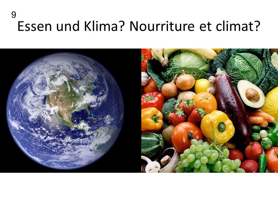 Essen und Klima? Nourriture et climat? 9
