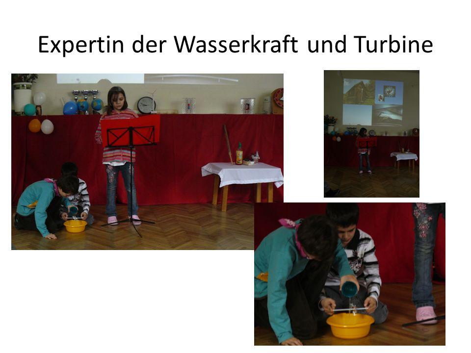 Expertin der Wasserkraft und Turbine