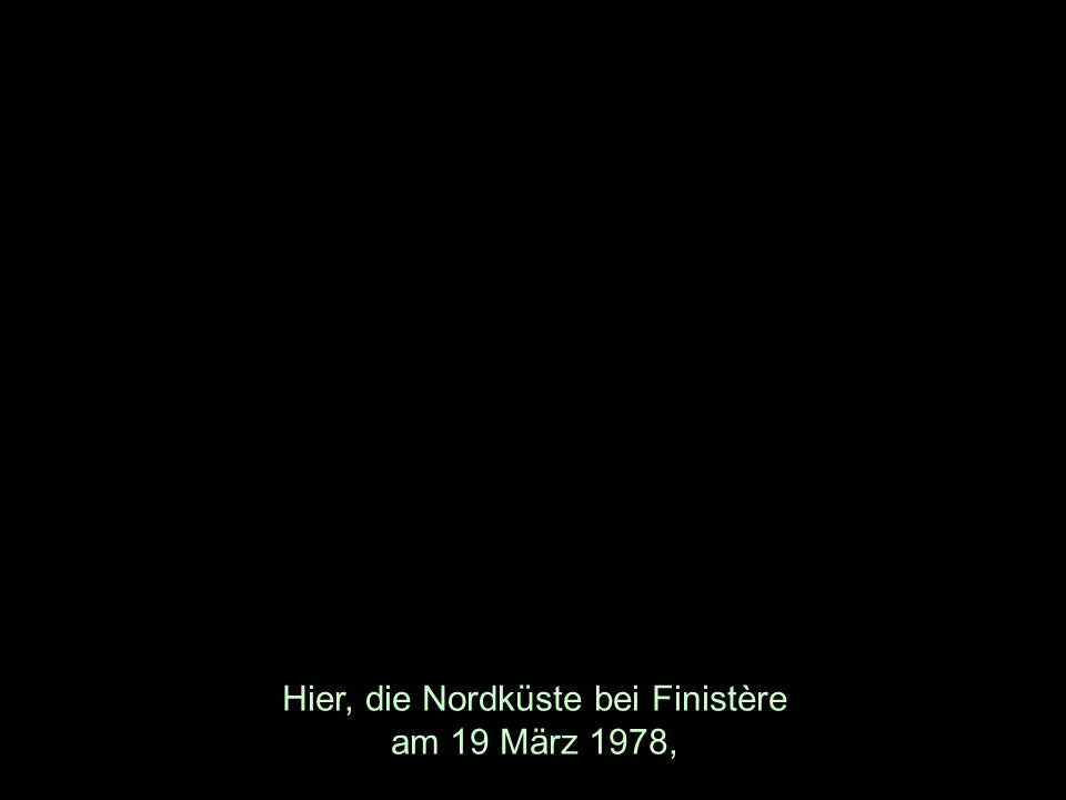 Hier, die Nordküste bei Finistère am 19 März 1978,