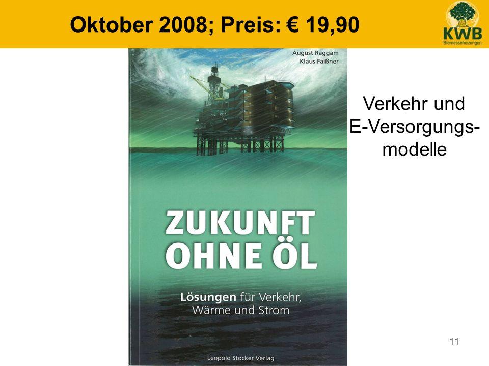 11 Oktober 2008; Preis: 19,90 Verkehr und E-Versorgungs- modelle