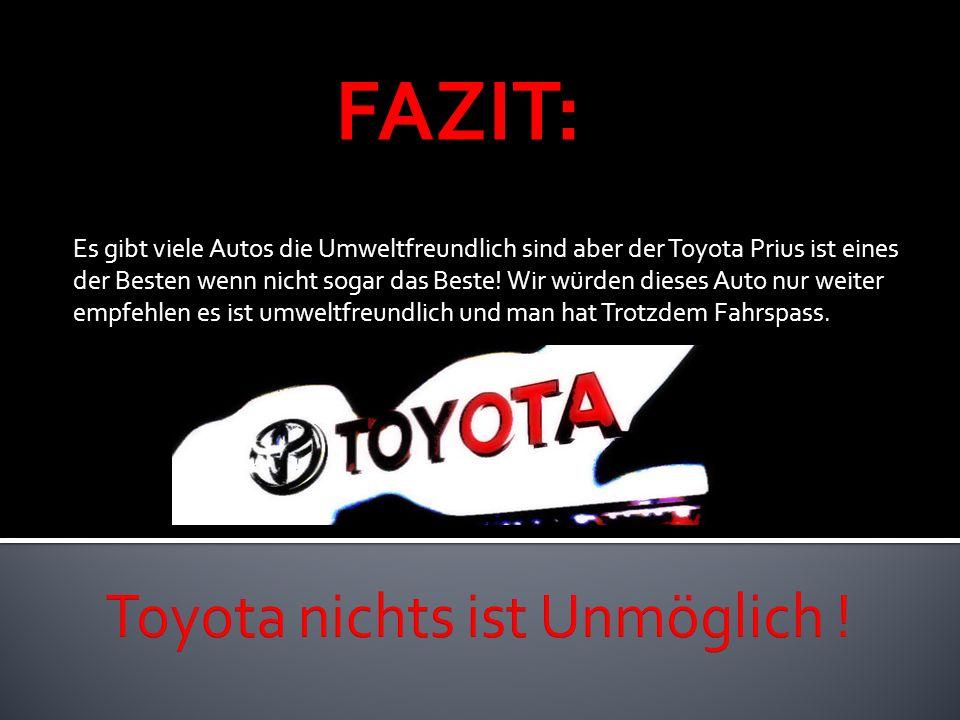 Es gibt viele Autos die Umweltfreundlich sind aber der Toyota Prius ist eines der Besten wenn nicht sogar das Beste! Wir würden dieses Auto nur weiter