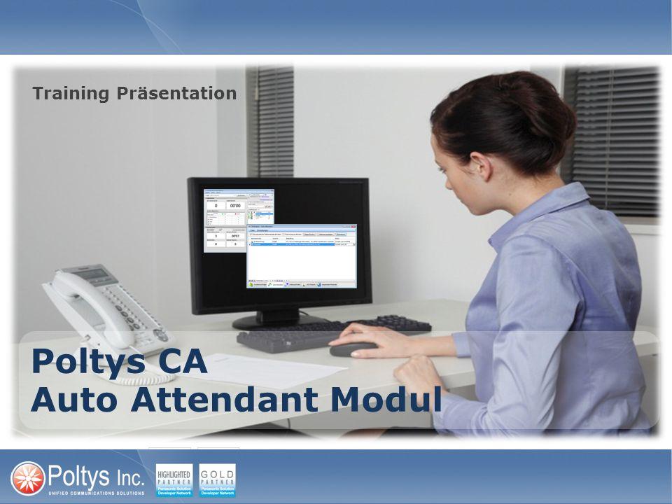 Poltys CA Auto Attendant Modul Training Präsentation