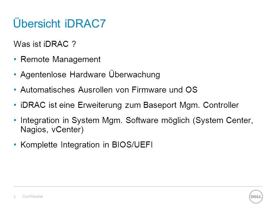 Übersicht iDRAC7 Was ist iDRAC .