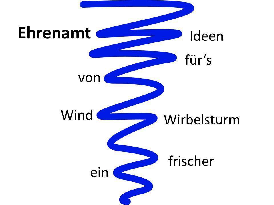 ein Wirbelsturm von Ideen frischer Wind fürs Ehrenamt