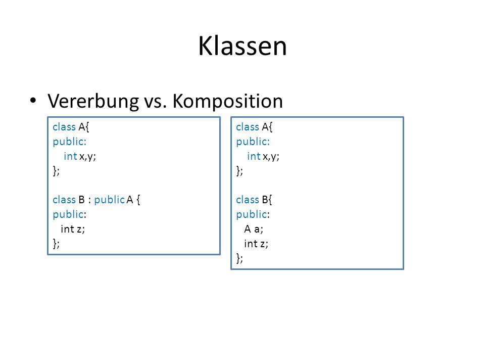 Klassen Vererbung vs.