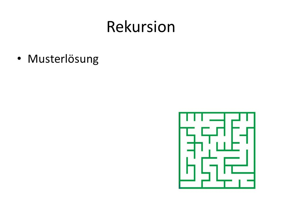 Rekursion Musterlösung