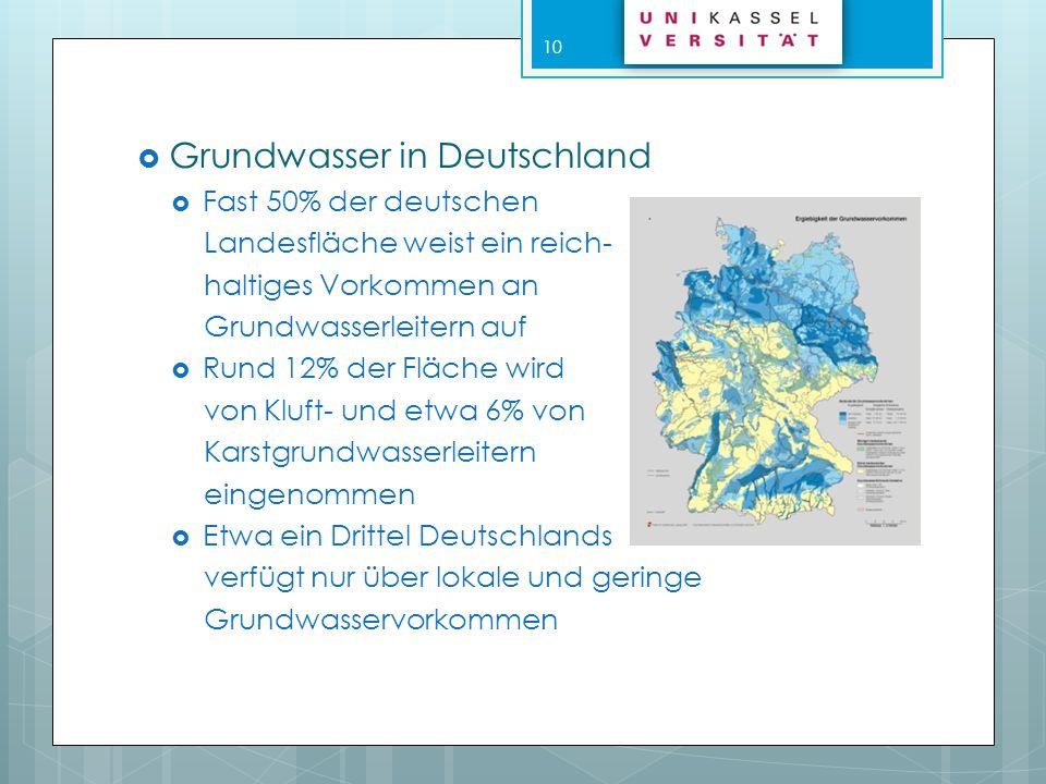 Grundwasserförderung Vertikale Fassung durch Schlag-, Schacht- oder Spülbrunnen anhand von in den Boden eingerammte Filterrohre Erfassung durch Horizontalfilter- brunnen mittels waagerecht vorgetriebener Filterrohre Und durch Uferfiltration 11