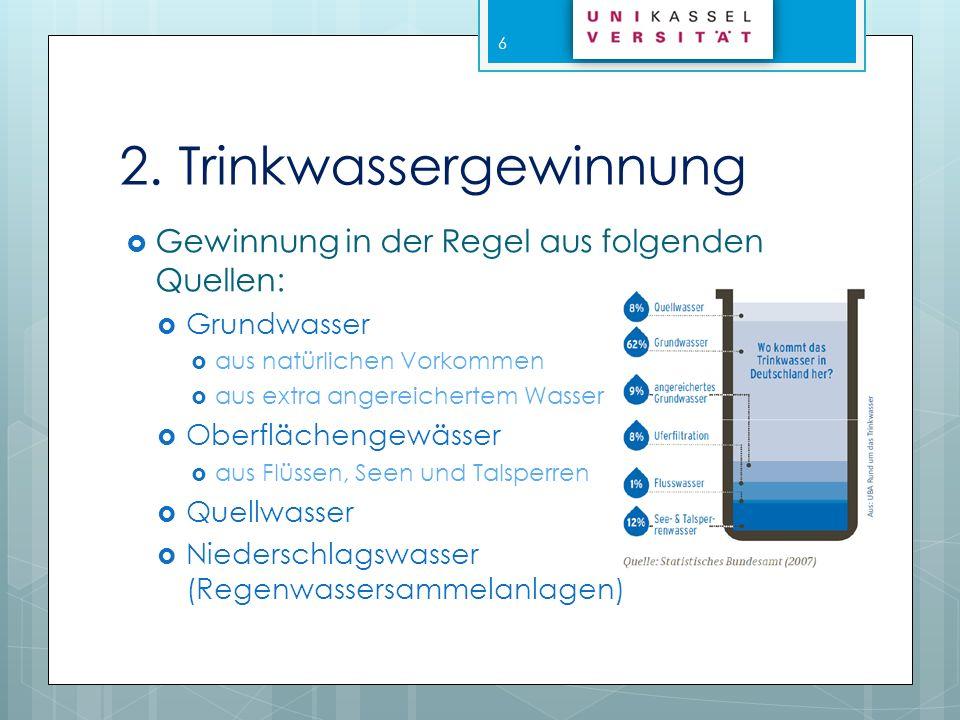 2.1 Grundwasser Nach DIN 4049: Unterirdisches Wasser, das die Hohlräume der Erdrinde zusammenhängend ausfüllt und dessen Bewegung ausschließlich von der Schwerkraft und den durch die Bewegung selbst auslösenden Reibungskräften bestimmt wird Nach Wasserhaushaltsgesetz (WHG): Unterirdisches Wasser in der Sättigungszone, das in unmittelbarer Berührung mit dem Boden oder dem Untergrund steht 7