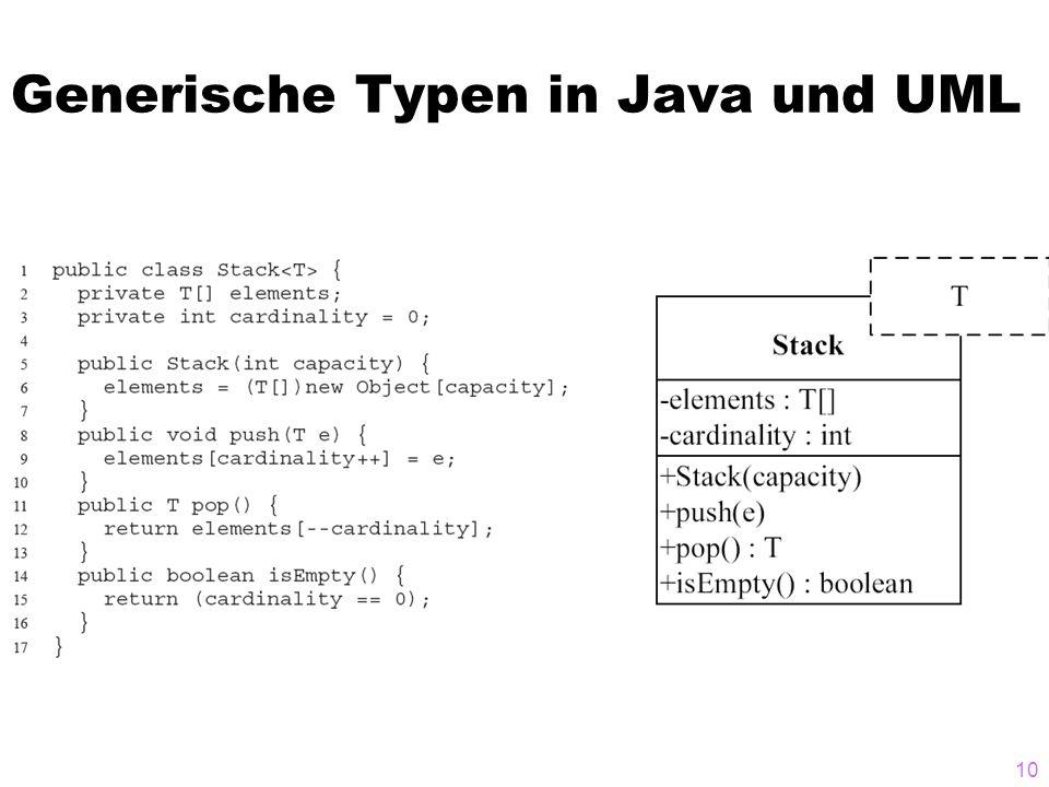 Generische Typen in Java und UML 10