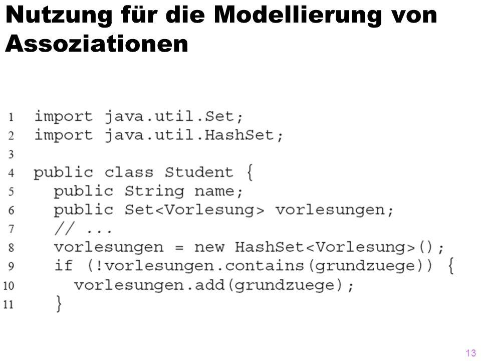 Nutzung für die Modellierung von Assoziationen 13