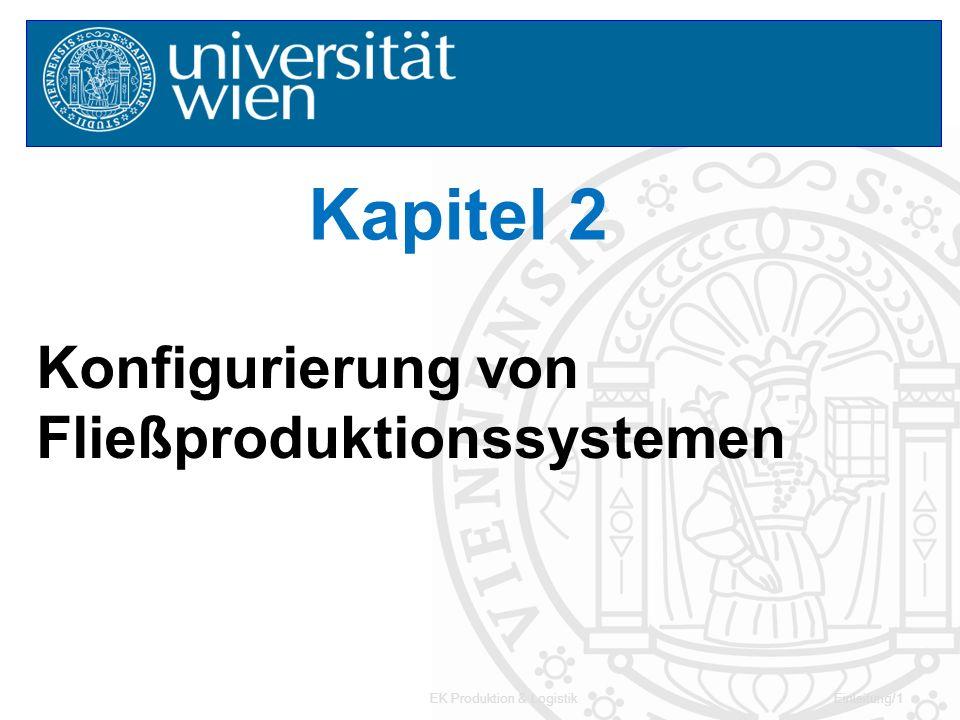 EK Produktion & LogistikKapitel 2/12 Beispiel - Vorranggraph ACJ I HE F DG B 3 4 38 3 6 5 26 1 Angabe