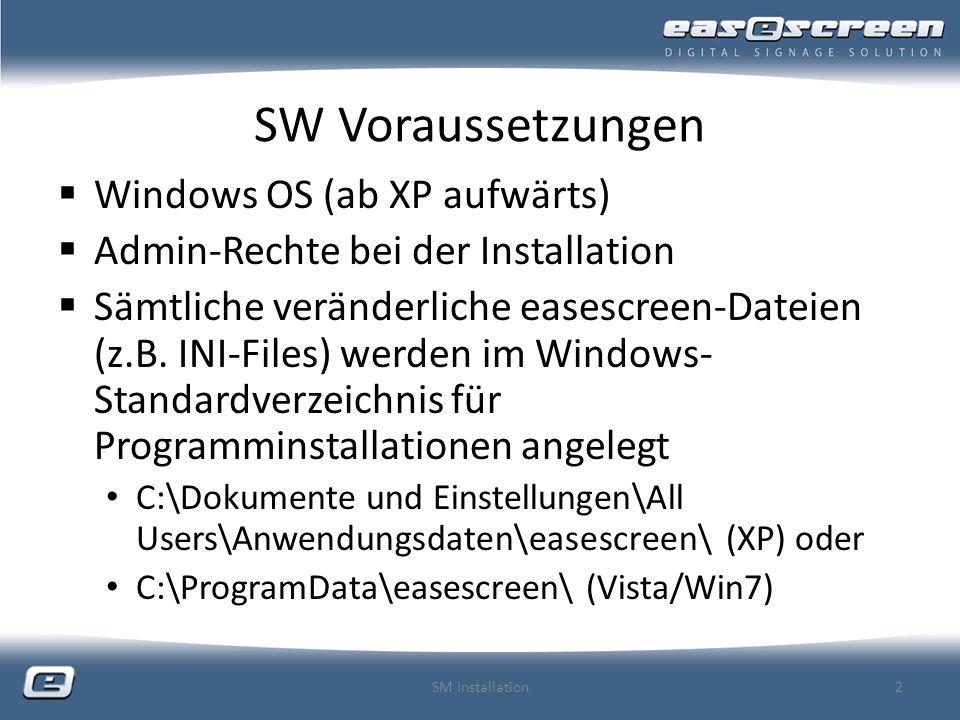 Grundlegendes zum Screen-Manager nicht lizenzierungspflichtig als DEMO-Version verfügbar (ohne Übertragungsfunktionen) alles, auch die Vorschau funktioniert nach Installation (kann von jedem für Tests z.B.