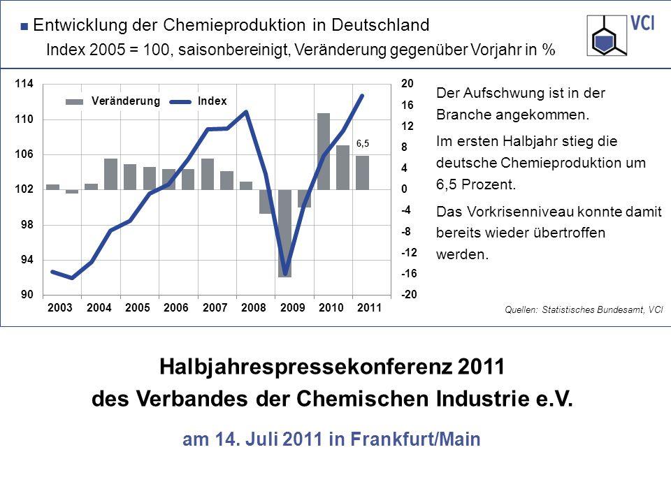 Halbjahrespressekonferenz 2011 des Verbandes der Chemischen Industrie e.V.