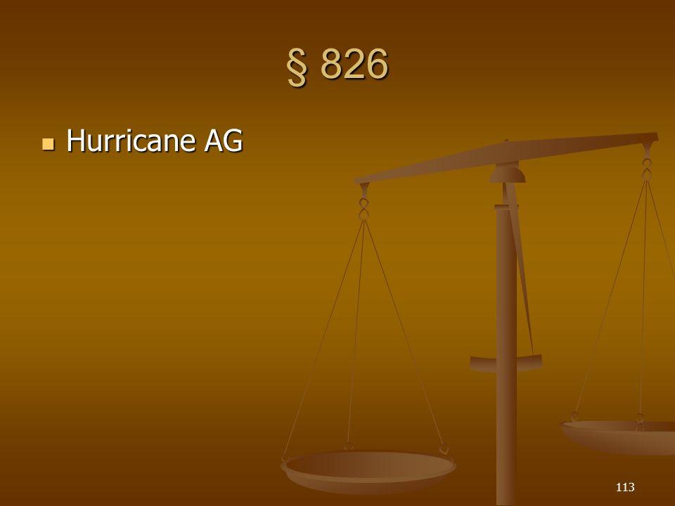 § 826 Hurricane AG Hurricane AG 113