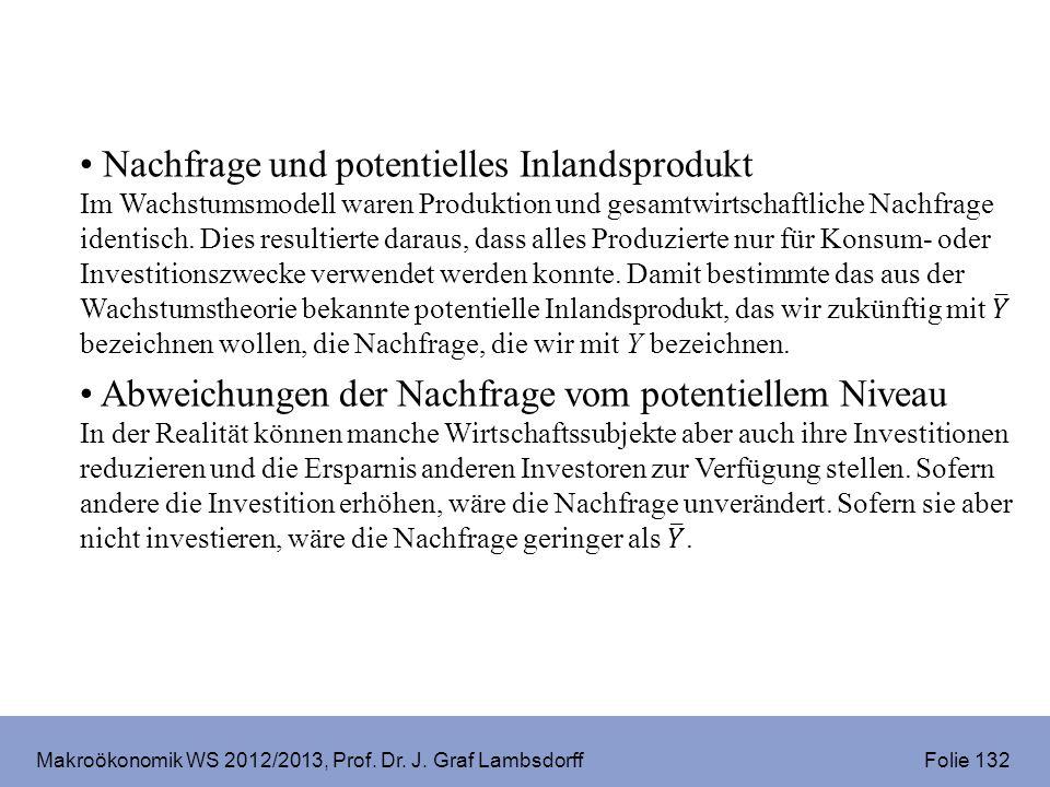 Makroökonomik WS 2012/2013, Prof. Dr. J. Graf Lambsdorff Folie 132