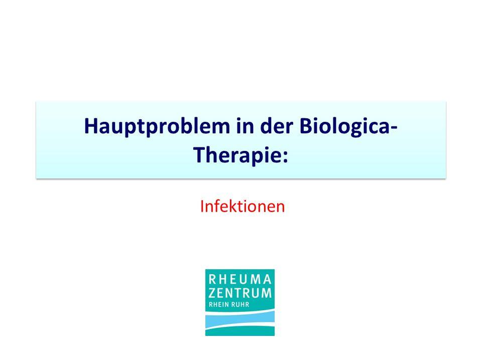 Hauptproblem in der Biologica- Therapie: Infektionen