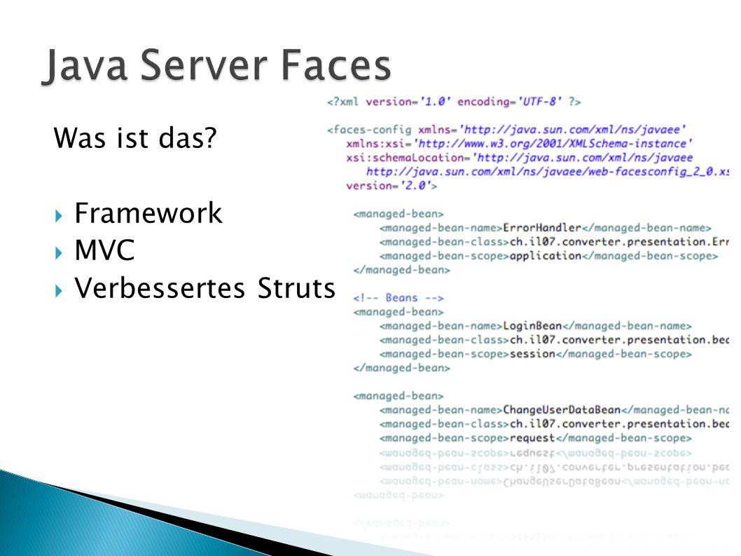 Was ist das Framework MVC Verbessertes Struts
