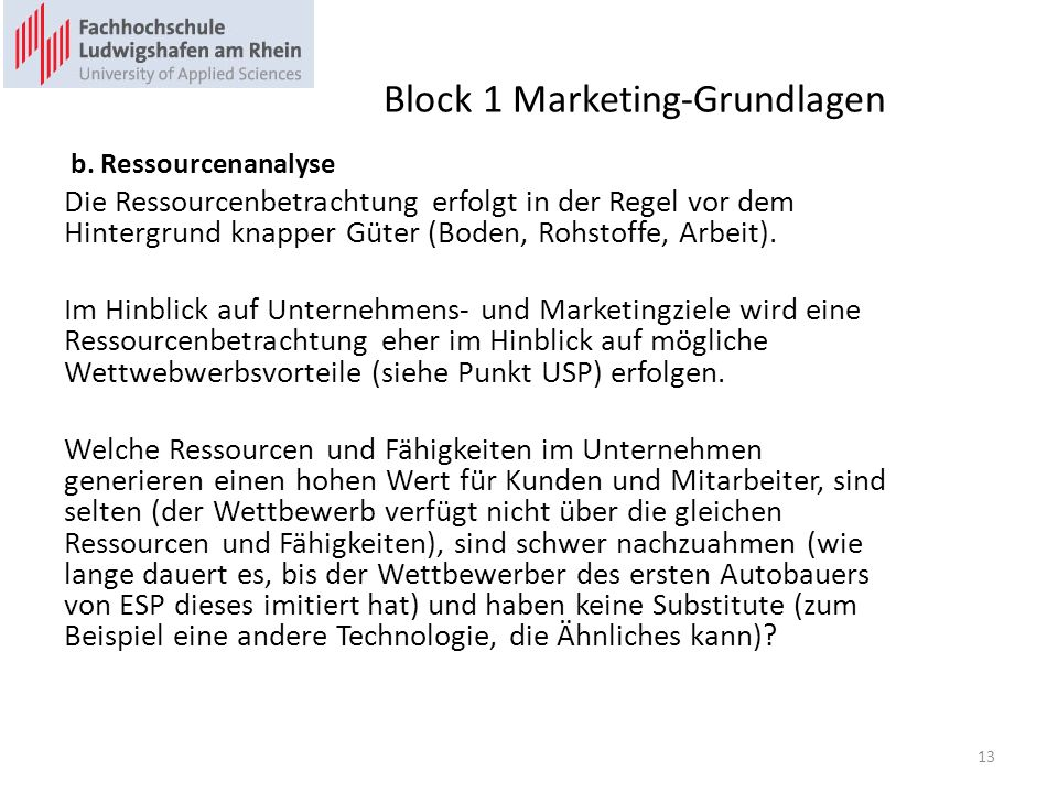 Block 1 Marketing-Grundlagen b.