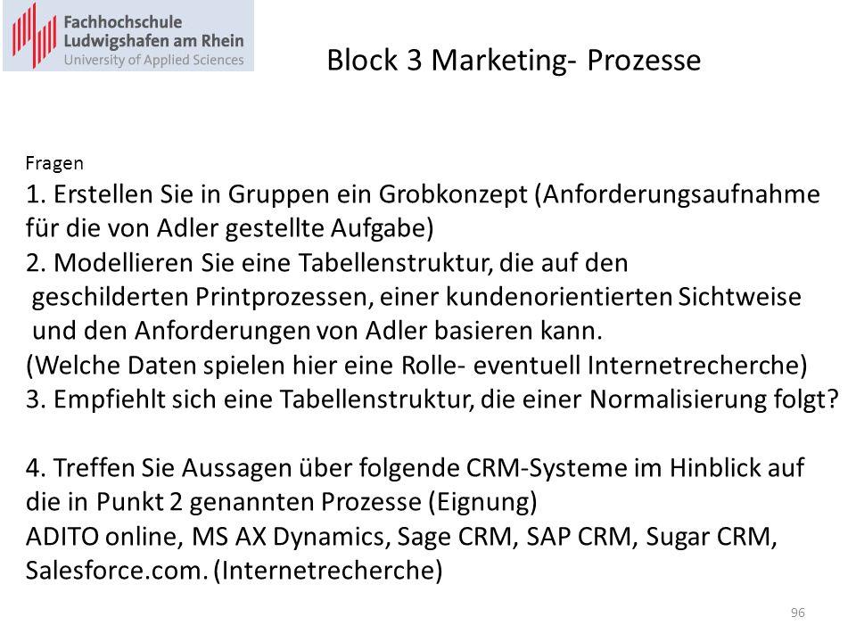 Block 3 Marketing- Prozesse 96 Fragen 1.