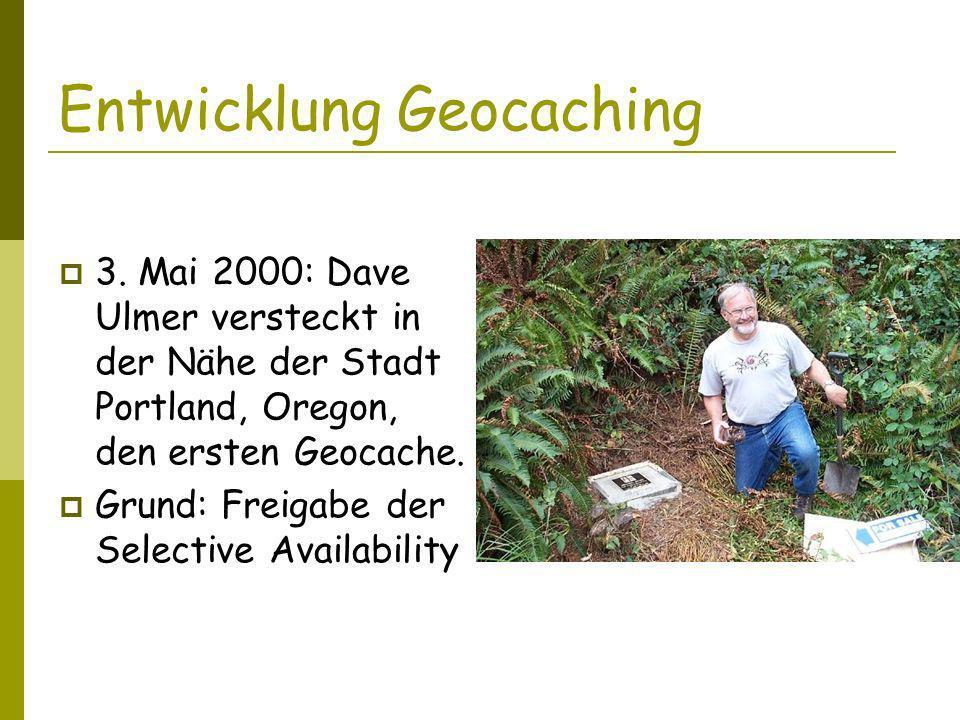 Entwicklung Geocaching 3.