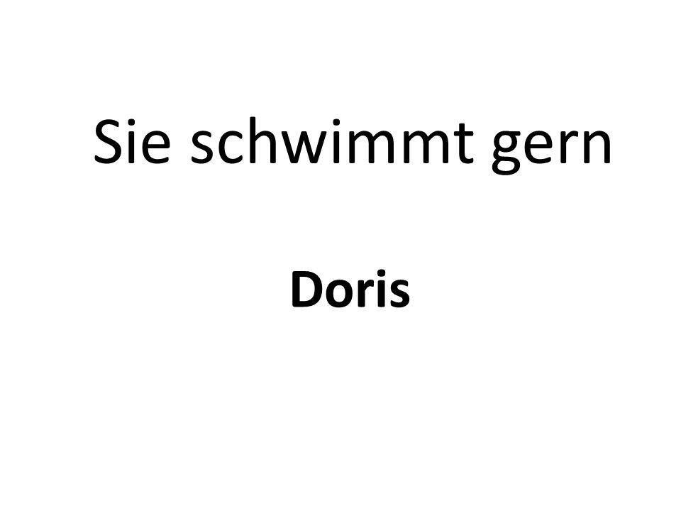 Sie schwimmt gern Doris