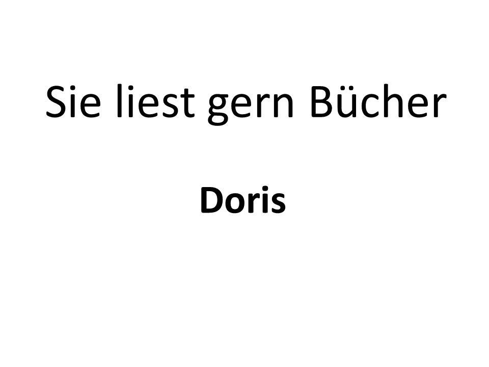 Sie liest gern Bücher Doris
