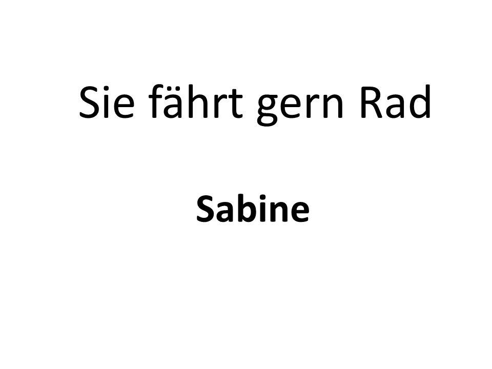 Sie fährt gern Rad Sabine
