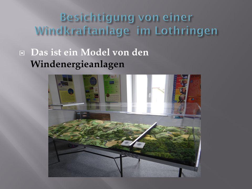 Das ist ein Model von den Windenergieanlagen