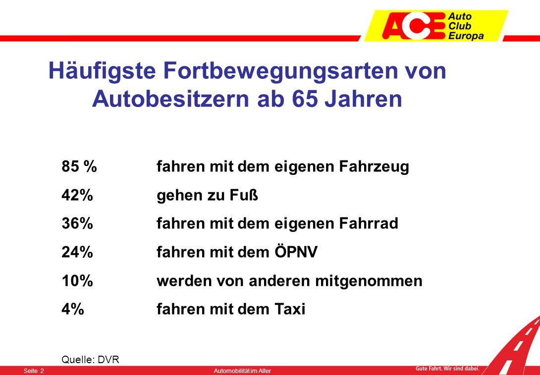 Seite 12Automobilität im Alter http://www.aeltere-verkehrsteilnehmer.de/index.html