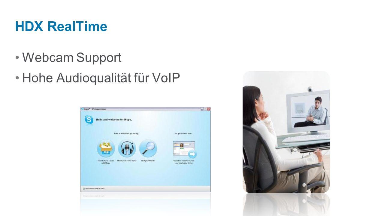 Webcam Support Hohe Audioqualität für VoIP HDX RealTime