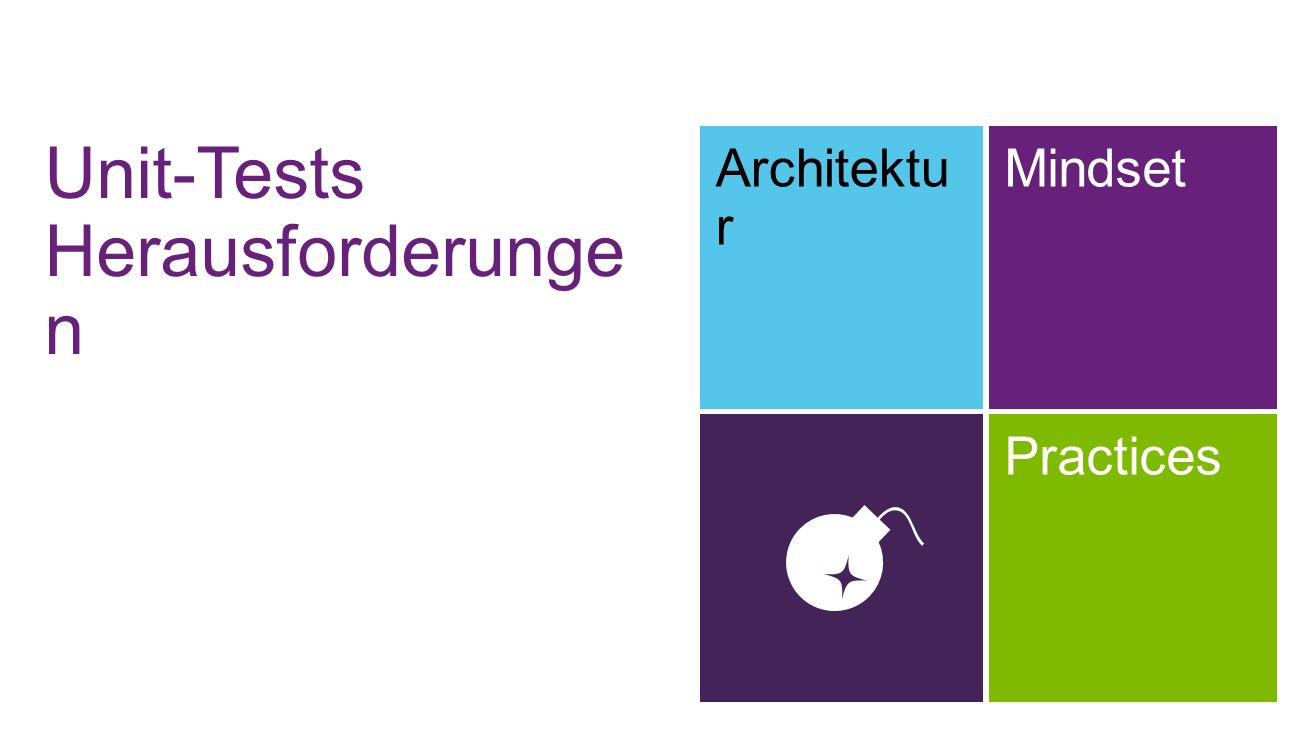 Unit-Tests Herausforderunge n Architektu r Mindset Practices