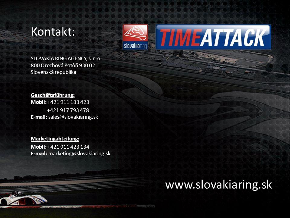 Kontakt: SLOVAKIA RING AGENCY, s.r. o.