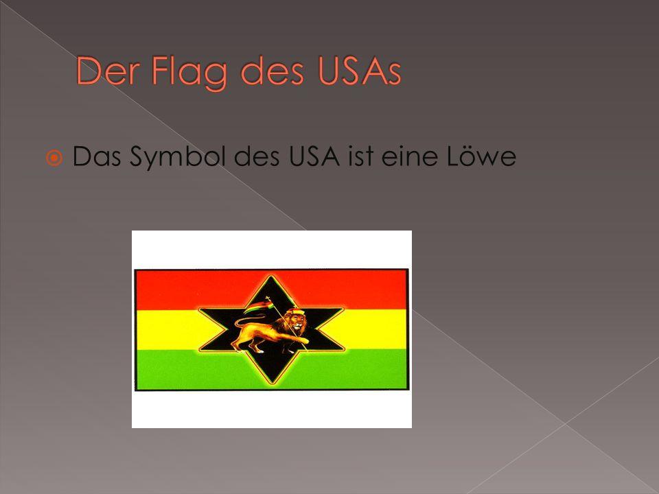 Das Symbol des USA ist eine Löwe