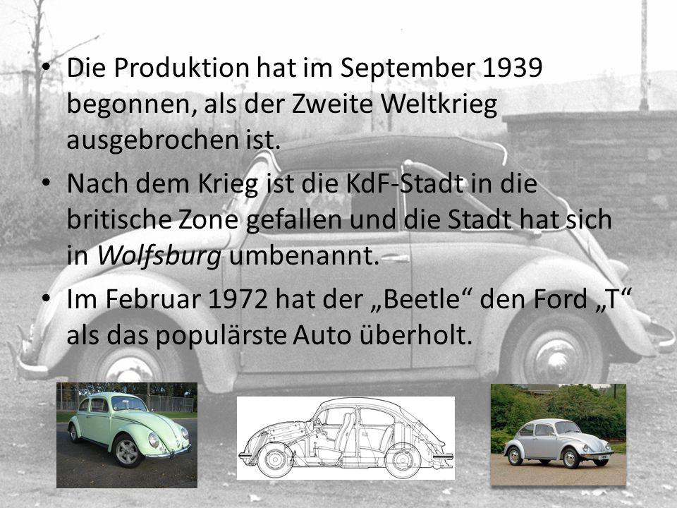 Die Produktion hat im September 1939 begonnen, als der Zweite Weltkrieg ausgebrochen ist. Nach dem Krieg ist die KdF-Stadt in die britische Zone gefal