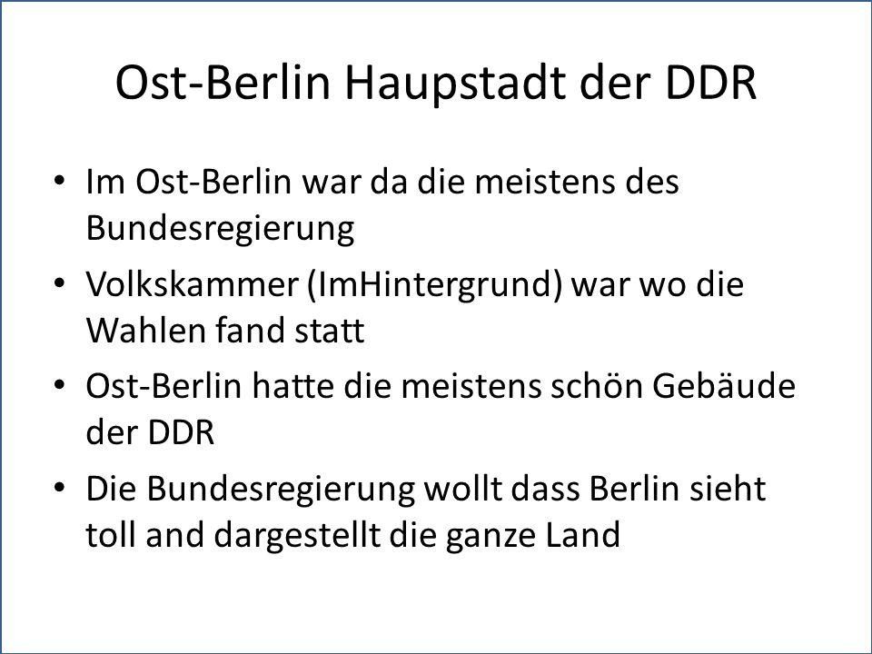 Ost-Berlin Haupstadt der DDR Im Ost-Berlin war da die meistens des Bundesregierung Volkskammer (ImHintergrund) war wo die Wahlen fand statt Ost-Berlin