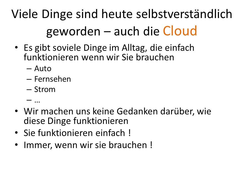 Was sind die Merkmale von Cloud- Computing .Ist irgendwo da draussen im Internet .