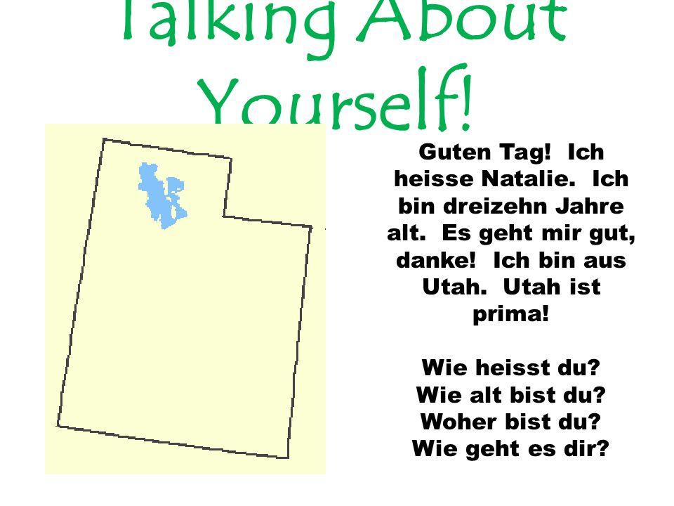 Talking About Yourself.Guten Tag. Ich heisse Natalie.