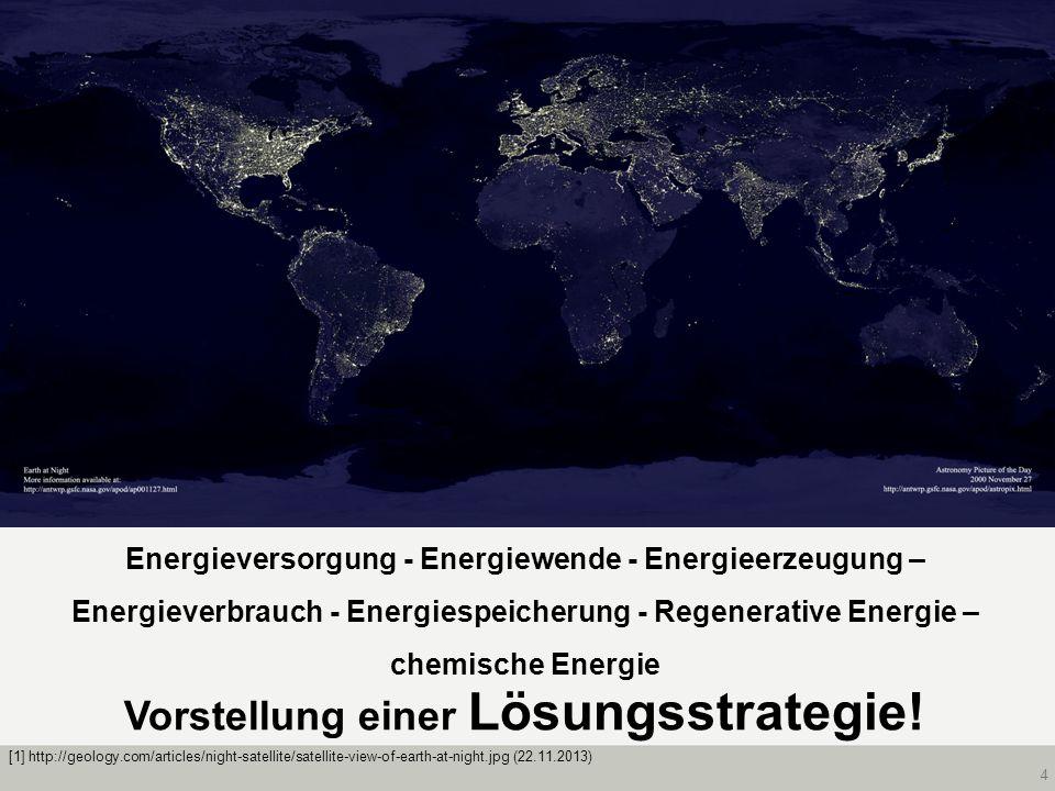 4 Energieversorgung - Energiewende - Energieerzeugung – Energieverbrauch - Energiespeicherung - Regenerative Energie – chemische Energie Vorstellung e