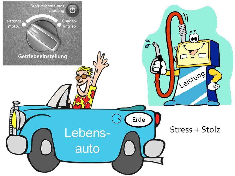 Lebens- auto Leistung Stress + Stolz Erde