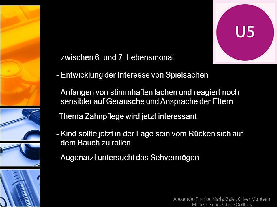 Alexander Franke, Maria Baier, Oliver Muntean Medizinische Schule Cottbus - zwischen 6. und 7. Lebensmonat - Entwicklung der Interesse von Spielsachen