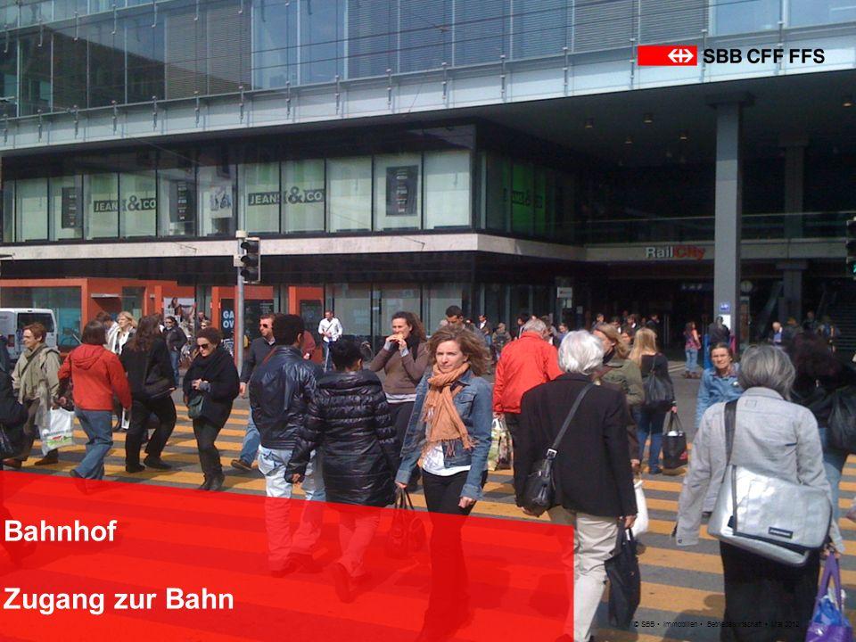 © SBB Immobilien Betriebswirtschaft Mai 2012 Bahnhof BAHNHOFMANAGEMENT SBB Mehr Kommunikation und einfachere Zusammenarbeit mit Städten, Gemeinden und Kantonen.