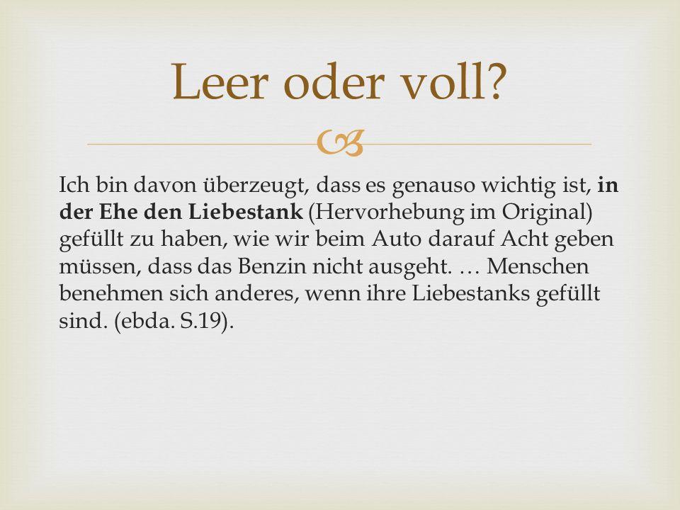 Biblische Anthropologie nach der Erlösung: Leer oder voll.